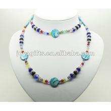 Mode Hämatit Wrap mit blauen Perle Shell