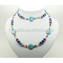 Fashion Hematite Wrap With Blue Pearl Shell
