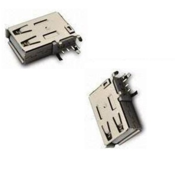 USB um tipo DIP vertical do receptáculo do ângulo