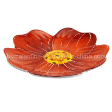 Melamine Flower Shaped Dessert Plate