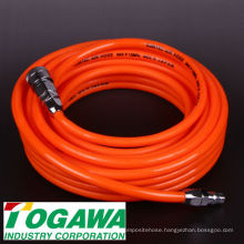 Polyurethane air conditioning flexible hose for in-factory air tools (air tucker). Made in Japan by Togawa Industry