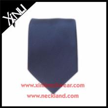 Cravate bleu foncé en soie Jacquard tissé en gros