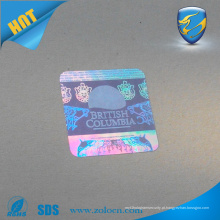 Etiqueta de etiqueta de holograma a laser de segurança