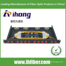 Painel de remendo de fibra óptica de montagem em rack de 19 polegadas Porta FC 12
