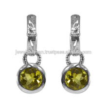 Lemon Quartz Gemstone 925 Sterling Silver Earring