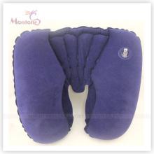 Comfortable PVC Flocking Inflatable Neck Air Pillow 44*28cm