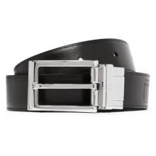 Reversible buckle luxury leather belts men