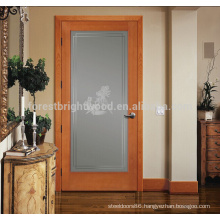 Carved veneer solid modern wood door