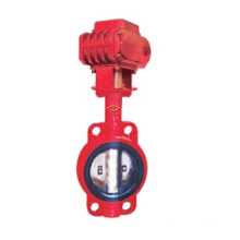 Electric clamp center wire butterfly valve ductile iron NBR/EPDM seat