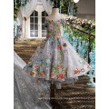 LS00147 best selling off shoulder lace applique luxury baby laced flower girls dresses