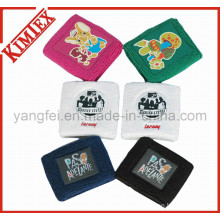 100% Cotton Terry Sports Embroidery Promotion Wristband