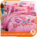 Comfortable 100% polyester new design cute bed sheet set luxury home textile