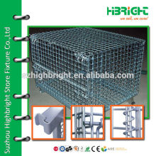 zinc plated wire nesting warehouse storage container