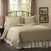 Embroidery Cotton Quilt, Available in Various Fabrics, Available in Size of 68 x 86 Inches