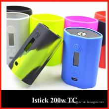 Silicone cigarro proteger pele / manga / caso com multi cores escolha para Istick 200W Atacado de Shenzhen