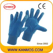 PVC punteado industrial azul Jersey algodón mano seguridad trabajo guantes (41010)