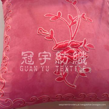 Bordado de camurça para tecido de capa de almofada decorativa