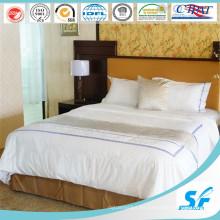 Blanco Color Hotel de algodón lujoso edredón edredón cubierta de edredón (SFM-15-139)