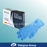 Malaysia Nitrile Exam Gloves with Blue Color
