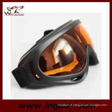 Cor transparente Paintball Goggles X400 óculos óculos de esqui