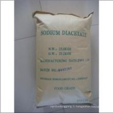 Fabrication de diacétate de sodium et de préservation des aliments cristallins blancs (SDA)