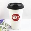 Gobelets en papier mûr à café simple de 350 ml avec couvercle