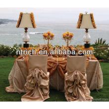 Chiavari Hochzeit zerzauste Stuhlhussen, Stuhlhussen für Hochzeiten mit Rüschen