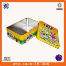 Metal Game Tin Box para Square Cookie Tin Box