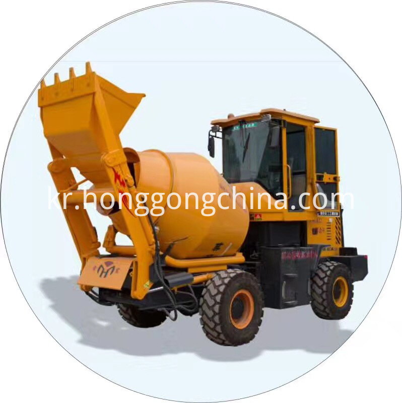 Portable self-loading Concrete plant