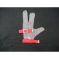 Gant de travail protecteur de doigt de chaîne en acier 3