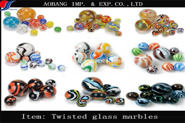 twisted glass marbles