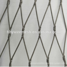 Zoo rope mesh for animal cages hand weave cable rope mesh for zoo enclosure