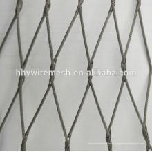 Engranzamento da corda do jardim zoológico para a malha da corda do cabo do weave da mão das gaiolas do animal para o cerco do jardim zoológico