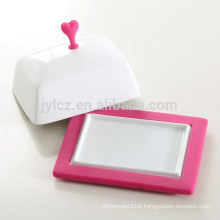 ceramic butter dish with non-slip silicone base