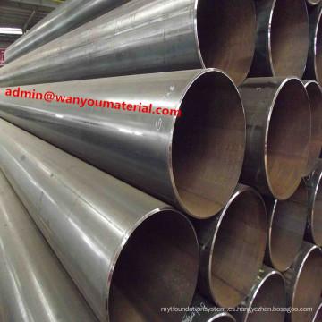 Nueva tubería de acero de transporte de la estructura del negro de carbono soldada con autógena -ERW