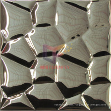 Gold Mirror Face Water Cube Shape Stainless Steel Mosaic (CFM892)
