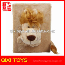 Brown Lion Plush Velour Toy Keepsakes Photo Album Skin Cover