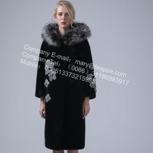 Lady Reversible Hooded Kopenhagen Mink Mantel