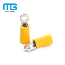 Yellow Copper Ground Wire Insulated Ring Terminal Lug