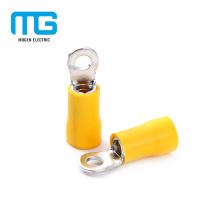 Fio isolado de cobre amarelo do terminal do anel do fio de cobre
