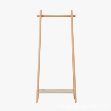 Populär Cloth Standing Hanger Wooden Coat Rack