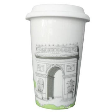 Travel Mug with Silicone Lid
