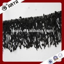 Polyester Vorhang Schwarze Quaste Fransen