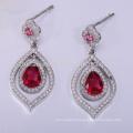 Style zircon earring 925 sterling silver new designs gold jhumka earring