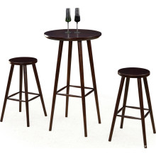 Round Wood Bar Table and Stool Set (FOH-BCA70)
