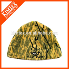 Polar fleece beanie hat wholesale