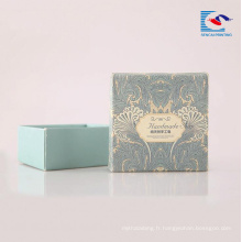 Boîtes d'emballage en carton rigide de haute qualité pour savons noirs faits à la main