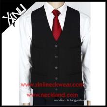 Gilet de mariage formel de tissé de polyester d'hommes et cravate
