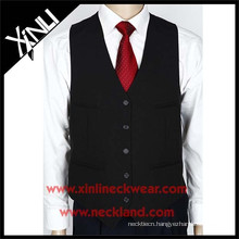 Polyester Woven Formal Men Wedding Vest and Tie