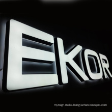 Waterproof acrylic 3d led channel letters signs for shop advertising and decoration